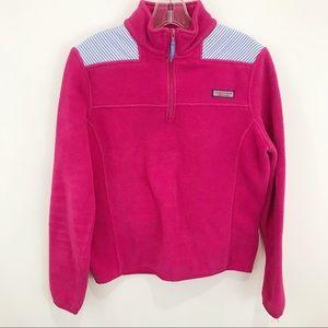VINEYARD VINES Pink Fleece w/Seersucker Shep Shirt